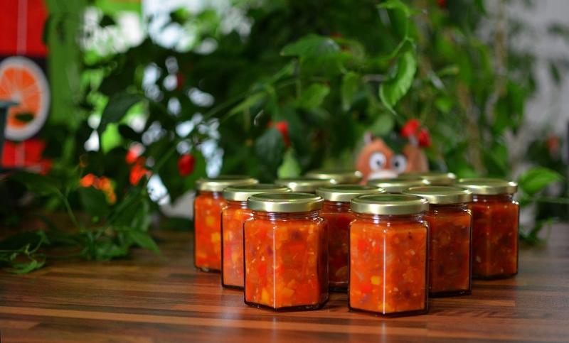 Rocotoista valmistettua salsaa.